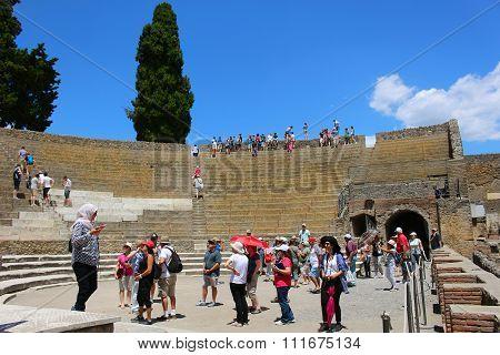 Ruins In Pompeii Amphitheatre