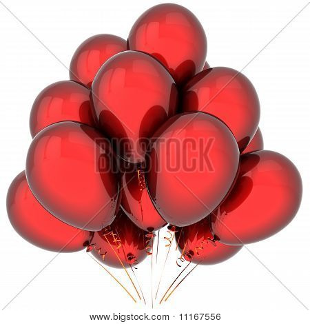 Glamour red balloons