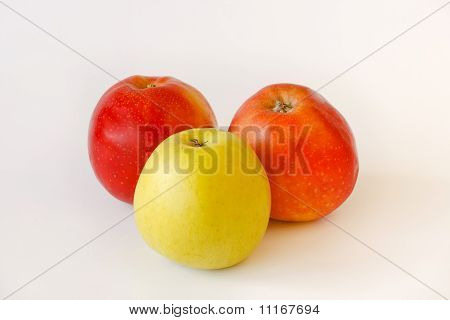 Two Red And One Green Apples