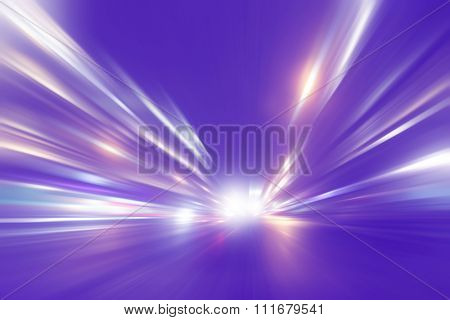 Abstract image of high speed on the road.