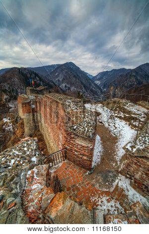 Dracula's Fortress At Poienari, Romania
