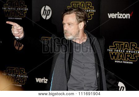 Mark Hamill at the World premiere of 'Star Wars: The Force Awakens' held at the TCL Chinese Theatre in Hollywood, USA on December 14, 2015.