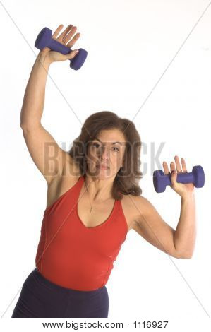 Woman Exercising