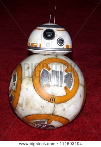 BB-8 at the World premiere of 'Star Wars: The Force Awakens' held at the TCL Chinese Theatre in Hollywood, USA on December 14, 2015.