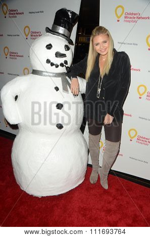 LOS ANGELES - DEC 12:  Alli Simpson, Snowman at the Childrens Miracle Network Winter Wonderland Ball, at the Avalon Hollywood on December 12, 2015 in Los Angeles, CA