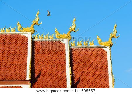 Roof Style Of Thai Temple