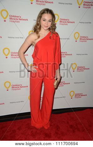 LOS ANGELES - DEC 12:  Brec Bassinger at the Childrens Miracle Network Winter Wonderland Ball, at the Avalon Hollywood on December 12, 2015 in Los Angeles, CA