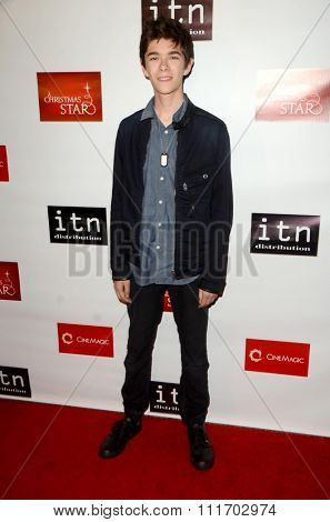 LOS ANGELES - DEC 10:  Mateo Simon at the A Christmas Star Premiere at the TCL Chinese 6 Theaters on December 10, 2015 in Los Angeles, CA