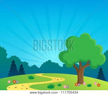 Spring topic scenery 1 - eps10 vector illustration.