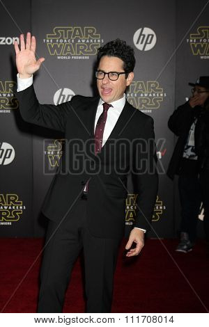 LOS ANGELES - DEC 14:  JJ Abrams at the Star Wars: The Force Awakens World Premiere at the Hollywood & Highland on December 14, 2015 in Los Angeles, CA