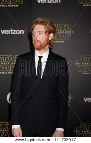 LOS ANGELES - DEC 14:  Domhnall Gleeson at the Star Wars: The Force Awakens World Premiere at the Hollywood & Highland on December 14, 2015 in Los Angeles, CA