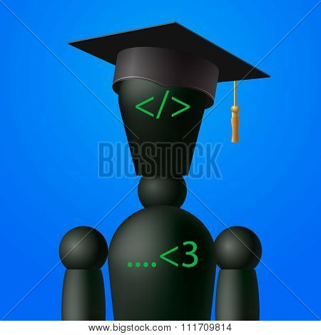 Learning web design and coding, programming school