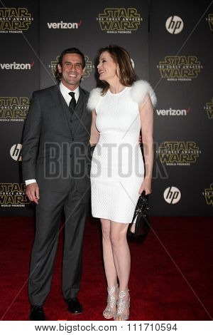 LOS ANGELES - DEC 14:  Geena Davis at the Star Wars: The Force Awakens World Premiere at the Hollywood & Highland on December 14, 2015 in Los Angeles, CA