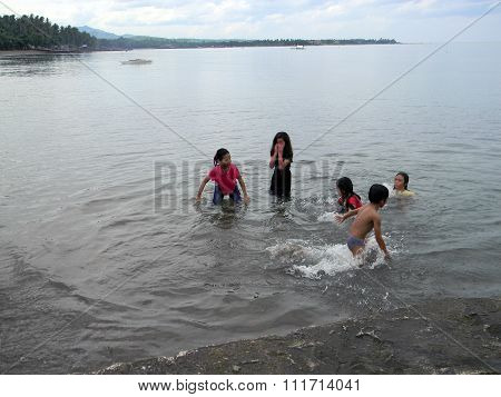 Children Play in the Water