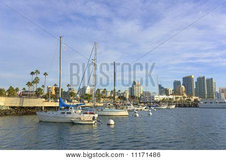 Sail Boat At A Dock