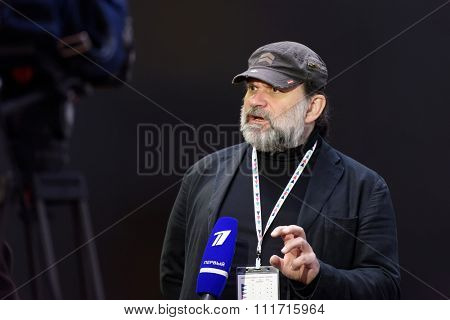 ST. PETERSBURG, RUSSIA - DECEMBER 14, 2015: Artistic Director of Tovstonogov Russian State Academic Bolshoi Drama Theater Andrey Moguchy during 4th St. Petersburg International Cultural Forum
