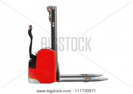 The image of self-propellered loader under the white background