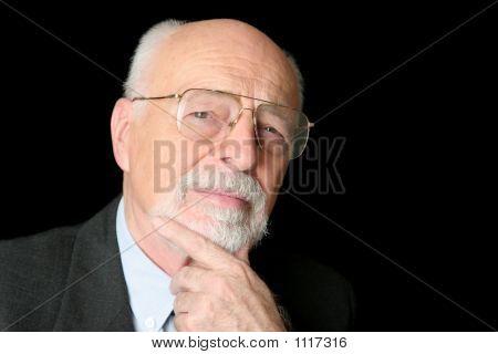hat Foto skeptisch senior Mannsbild