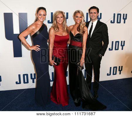 NEW YORK-DEC 13: (L-R) Jacqueline Miranne, Joy Mangano, Christie Miranne and Robert Miranne attend the