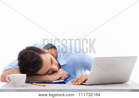 Man asleep in office