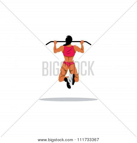 Workout woman. Vector Illustration.