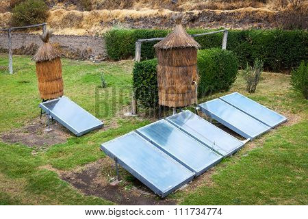 water heater with a solar battery
