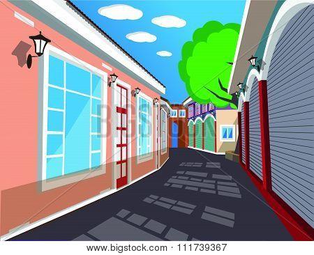 City comic Background