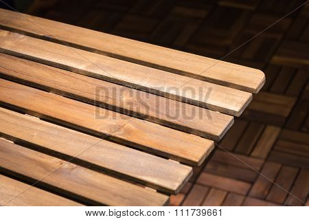 Perspective View Of Log Table Corner