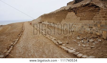 Pre-columbian Cultures Archaeological Site Of Pachacamac Near Li