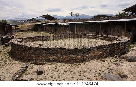 The Ruins Of The Ancient Civilization Of Wari, Near Ayacucho In