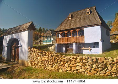 Old Village Museum Houses in Transylvania, Romania