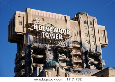 The Hollywood Tower Hotel In California Adventure Theme Park