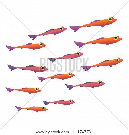 Group of small fish icon