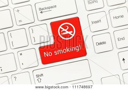 White Conceptual Keyboard - No Smoking (red Key)