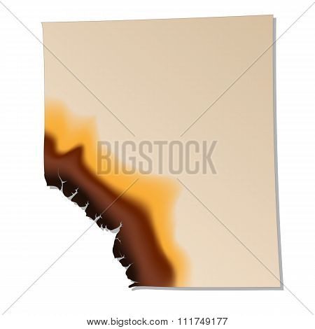 Burned sheet of paper icon