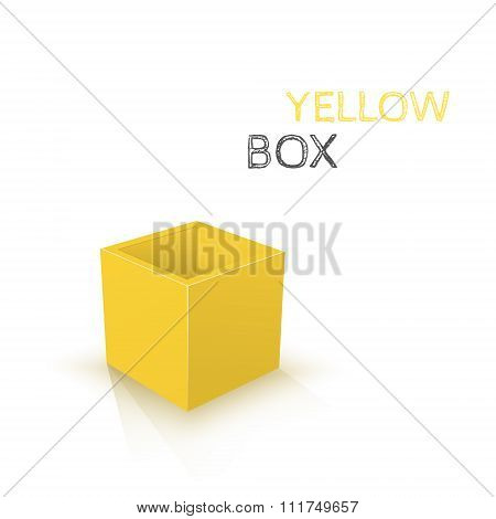 Yellow Box isolated on white background. Vector