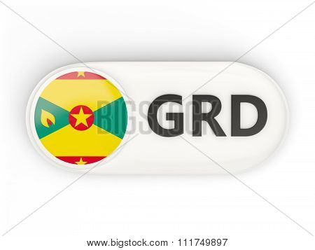 Round Icon With Flag Of Grenada
