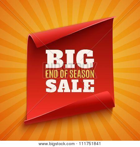 Big end of season sale poster.