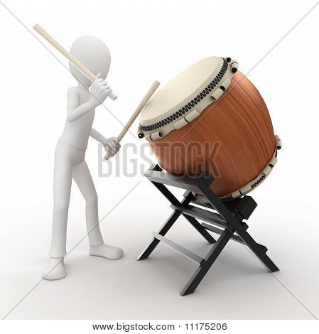 3D Man With Drum