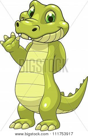 Cute funny crocodile