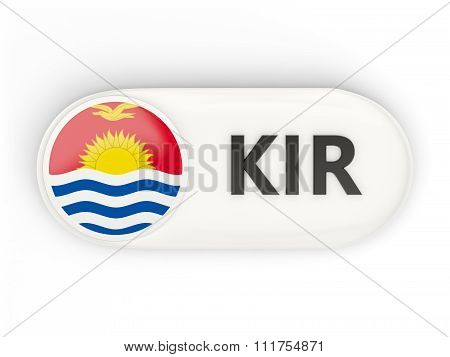 Round Icon With Flag Of Kiribati