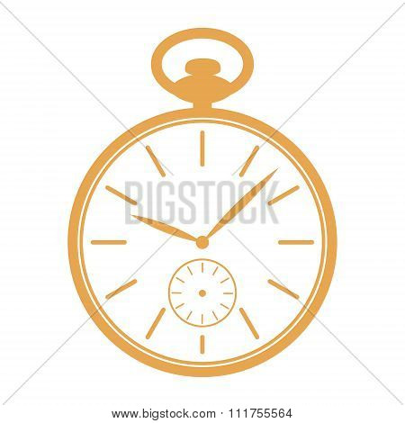 Pocket watch illustration.