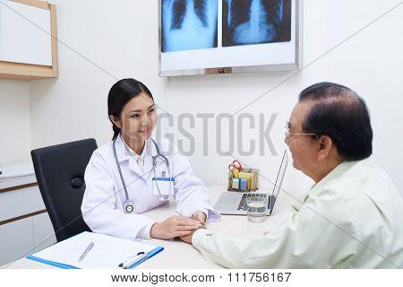 Reassuring patient