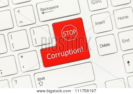 White Conceptual Keyboard - Corruption (red Key)