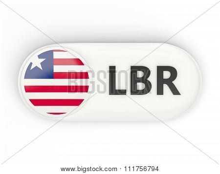 Round Icon With Flag Of Liberia