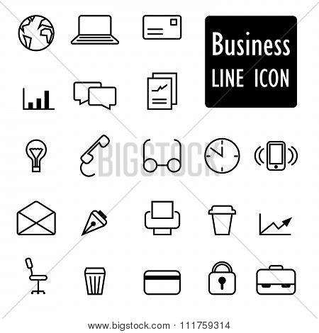 Business Icons linear abstract design