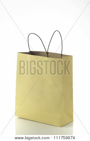 Khaki Paper Shopping Bag