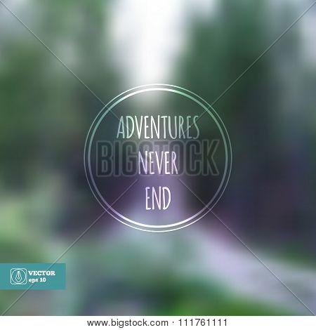 Corporate website design. Adventures never end