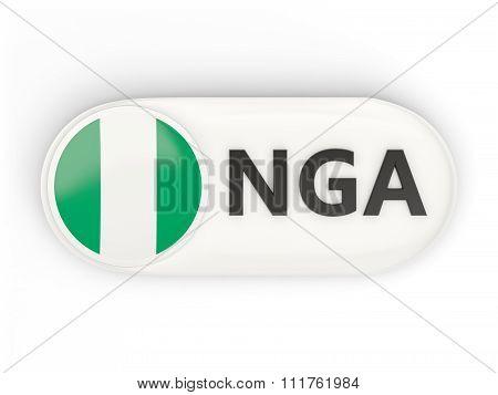 Round Icon With Flag Of Nigeria