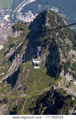 Dachstein, Austria - AUGUST 10: Cableway In Dachstein in August 2015